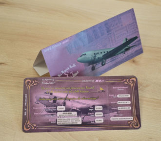 Faire-part Mariage Billet d'Avion pas cher et personnalisable